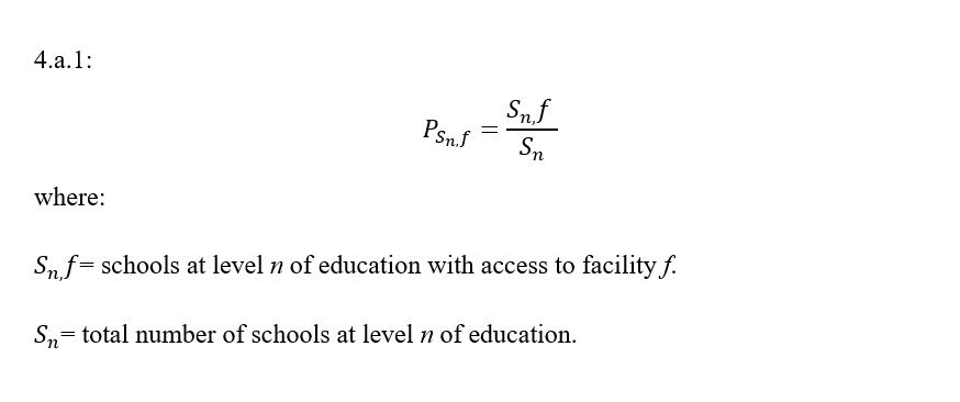 4.a.1 indicator formula